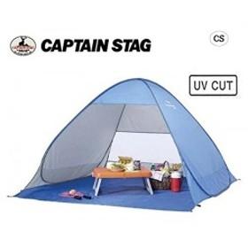 キャプテンスタッグ テント シャイニーリゾートポップアップビーチ テント UV ブルー1-2人用  M-5781