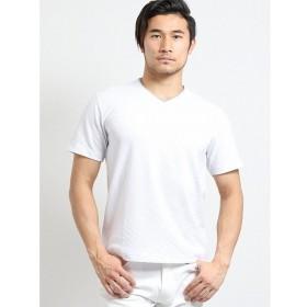 [マルイ]【セール】吸汗速乾バイヤスジャガード ダブルVネック半袖Tシャツ/タカキュー(TAKA-Q)