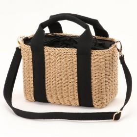 バッグ カバン 鞄 かごバッグ 使いやすいサイズ◎テープハンドル2WAYカゴバッグ カラー 「キャメル」