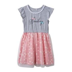 チュール使いお花ドッキングワンピース(女の子 子供服。ジュニア服) ワンピース
