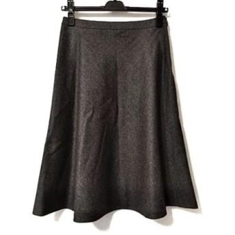 【中古】 ヨークランド YORKLAND スカート サイズ9AR S レディース ダークグレー
