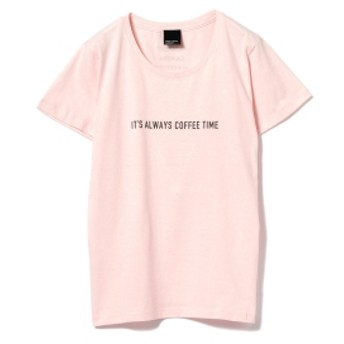 旅MUSE × BEAMS LIGHTS / COFFEE Tシャツ レディース Tシャツ LT. PINK ONE SIZE