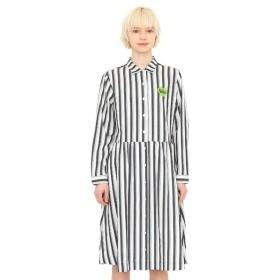 [マルイ]【セール】【レディース】コラボレーションオープンカラーシャツワンピース/グリーンアップルロゴ(ザビートルズ)/グラニフ(graniph)
