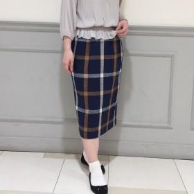 [マルイ]【セール】麻混チェックロングタイトスカート/フレディ&グロスター レディース(FREDY&GLOSTER)