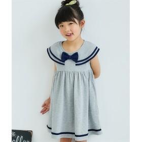 セーラー衿ワンピース(女の子 子供服。ジュニア服)ポケット付 ワンピース