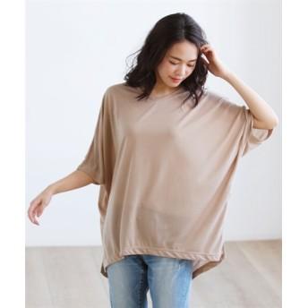 カットソードルマンプルオーバー (大きいサイズレディース)Tシャツ・カットソー