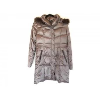 【中古】 アンタイトル UNTITLED ダウンコート サイズ3 L レディース グレー 冬物/フード、ファー取外し可