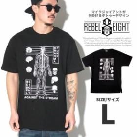 REBEL8 レベルエイト tシャツ 半袖tシャツ メンズ DHARMA PUNX コラボ 大きいサイズ