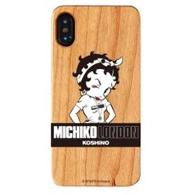 iPhone XS iPhone X ケース MICHIKO LONDON ミチコロンドン Betty Boop ベティー ブープ ウッドケース street style 【Gizm】