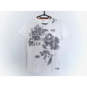 【中古】 ディーゼル DIESEL 半袖Tシャツ サイズS メンズ 白 黒