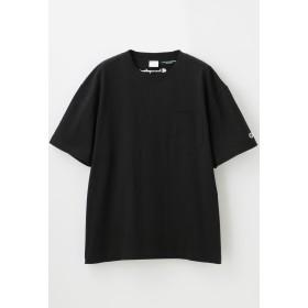 LOVELESS 【Champion】MEN 別注ビッグシルエットエンブロイダリーポケットTシャツ Tシャツ・カットソー,ブラック