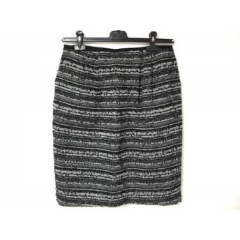 【中古】 エポカ EPOCA スカート サイズ46 XL レディース 黒 ライトグレー