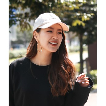 キャップ - REAL STYLE ロゴ刺繍ギンガムチェック柄キャップ レディース 帽子 ぼうし 小物 雑貨 シンプル カジュアル 英語 アクセサリー カーブキャップ刺しゅう ベースボールキャップ ローキャップ 日焼け対策 紫外線防止 可愛い 韓国ファッション