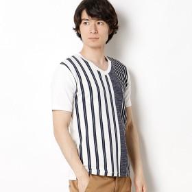 [マルイ]【セール】ストライプパターンTシャツ/メンズメルローズ(MEN'S MELROSE)
