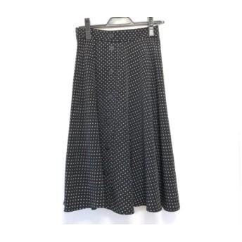 【中古】 ジャスグリッティー JUSGLITTY スカート サイズ1 S レディース 黒 白 ドット柄