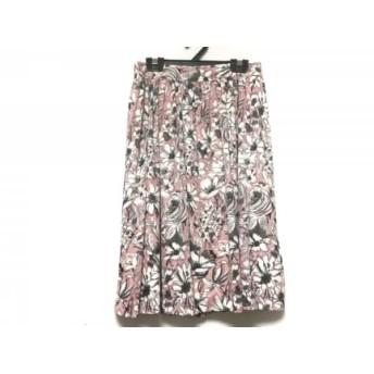 【中古】 ハロッズ HARRODS スカート レディース ピンク グレー 白 花柄