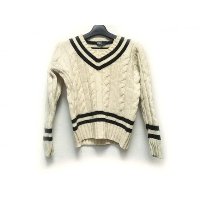 【中古】 ポロラルフローレン POLObyRalphLauren 長袖セーター サイズ140 メンズ アイボリー 黒
