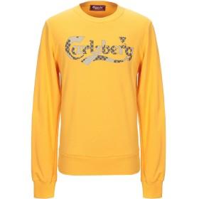 《セール開催中》CARLSBERG メンズ スウェットシャツ イエロー S コットン 100%