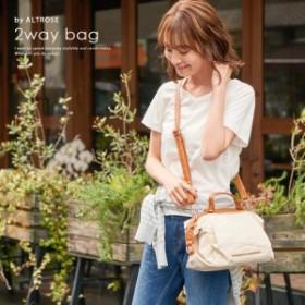ショルダーバッグ レディース 斜めがけ 可愛い かわいい 小さいバッグ キャンバス2WAYミニボストンバッグ [フィオナ] ALTROSE アルトロー