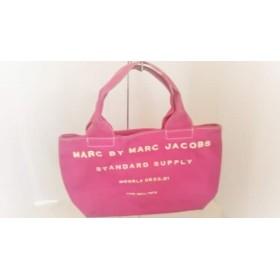 【中古】 マークバイマークジェイコブス MARC BY MARC JACOBS ハンドバッグ - ピンク キャンバス