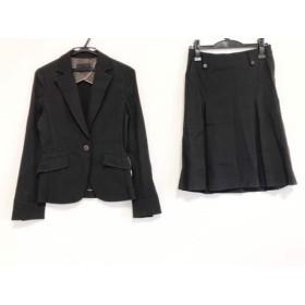 【中古】 アイシービー ICB スカートスーツ サイズ9 M レディース 黒 ストライプ