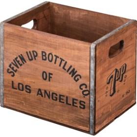 箱 籠 かご ウッドボックス 幅40 高さ32 おしゃれ 収納 インダストリアル アンティーク 衣服 木製(代引不可)【送料無料】