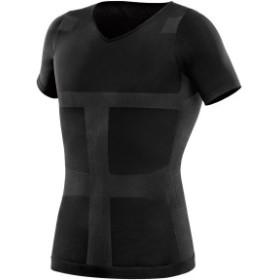 加圧インナーシャツ すごいぞ加圧シャツ カラー Lサイズ ブラック 3B-3753 La-VIE(ラヴィ)