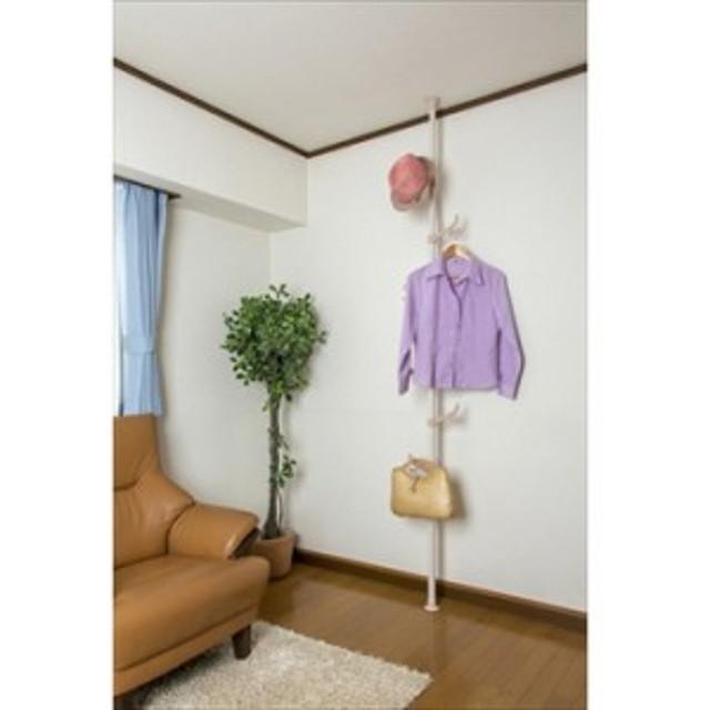 【ドリームハンガー】 トナカイフックポールハンガー 取り付け・取り外し簡単 突っ張りハンガ- 省スペース 衣類 小物 子供部屋(代引き不