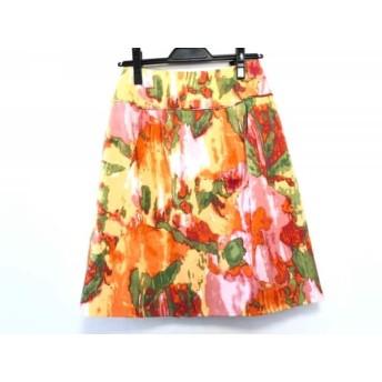 【中古】 コトゥー COTOO スカート サイズ38 M レディース イエロー グリーン マルチ