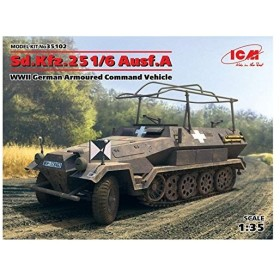 ICM 1/35 ドイツ陸軍 Sd.Kfz.251/6 Ausf.A 装甲指揮車 プラモデル 35102