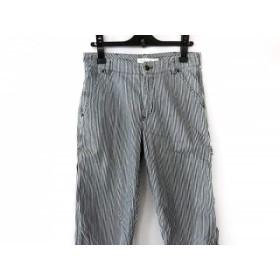 【中古】 シーバイクロエ SEE BY CHLOE パンツ サイズ38 M レディース ネイビー 白 ストライプ
