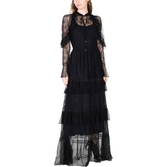 《セール開催中》JUST CAVALLI レディース ロングワンピース&ドレス ブラック 40 ポリエステル 100% / ナイロン