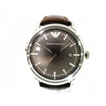 【中古】 アルマーニ EMPORIOARMANI 腕時計 AR-0571 メンズ ダークブラウン