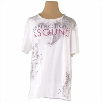 【中古】 カルバン クライン ジーンズ Calvin Klein Jeans Tシャツ 半袖 カットソー レディース メンズ ♯Lサイズ プリント ホワイト 白