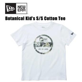 ニューエラ(NEW ERA)キッズ コットン Tシャツ ボタニカル バイザーステッカーS/SL《White》 半袖Tシャツ/キッズ/子供用[AA-2]