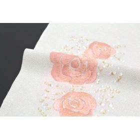 和装小物 - SOUBIEN 半衿 アイボリー 薔薇 花 猫 ブランド tsumorichisato ツモリチサト 刺繍 結婚式 成人式 振袖 フォーマル カジュアル 半襟 日本製