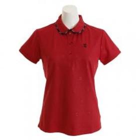 アドミラル(Admiral) ゴルフウェア レディース ランパントエンボス ポロシャツ ADLA930-RED(Lady's)