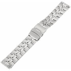 押しボタン腕時計のバンドを持つVoguestrap TX167W Allstrap16-22mmの銀調整可能な長さの半固体バンド