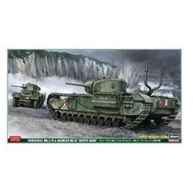 ハセガワ 30043 1/72 チャーチルMk.1/2&ダイムラーMk.2「ディエップ上陸作戦」
