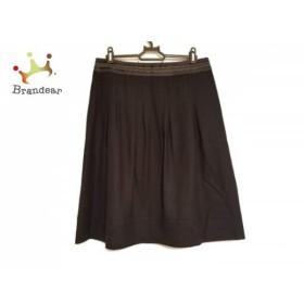ニジュウサンク 23区 スカート サイズ44 L レディース 美品 ダークブラウン   スペシャル特価 20190803