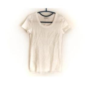 【中古】 ベイジ BEIGE 半袖Tシャツ サイズ4 XL レディース 美品 白 アイボリー 花柄/レース
