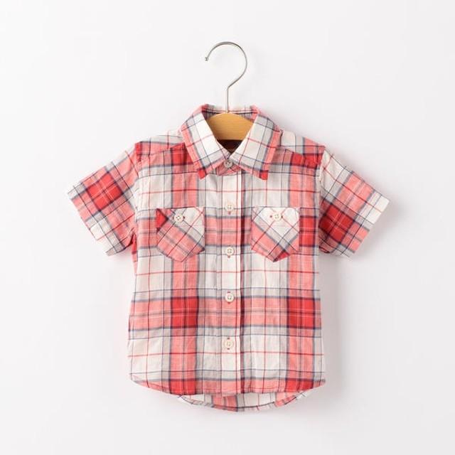 [マルイ]【セール】SHIPS KIDS:シャーリング チェック シャツ(80-90cm)/シップス キッズ(SHIPS KIDS)