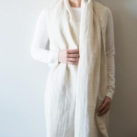 Organic Cotton&linen Wガーゼストール【50cm幅】