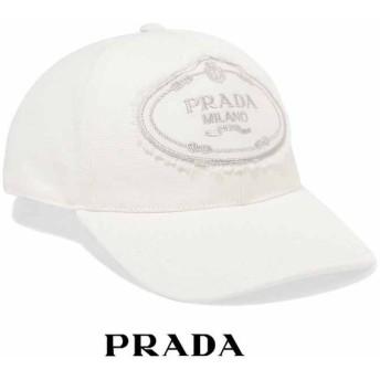 プラダ PRADA ロゴキャップ ホワイト 1HC274010F0009