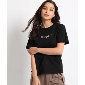 AG by aquagirl(エージー バイ アクアガール) 【洗える】ボンジュールロゴTシャツ