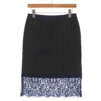 sacai / サカイ レディース スカート 色:紺系xグレー系(千鳥格子xレース) サイズ:2(M位)