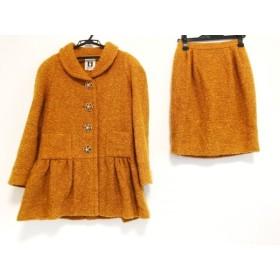 【中古】 ミュゼドウジ MUSEE D'UJI スカートスーツ サイズ9 M レディース オレンジ