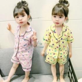 子どもパジャマ 女の子 子供パジャマ 半袖 夏用 上下セット ハーフパンツ 可愛い キルト 寝間着 ルームウェア 部屋着 ナイトウェア