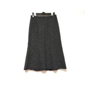 【中古】 ランバンコレクション スカート サイズ38 M レディース ダークグレー グレー ラメ