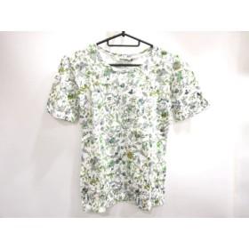【中古】 マックデイビッド McDavid 半袖Tシャツ サイズS レディース 白 グリーン オレンジ 花柄